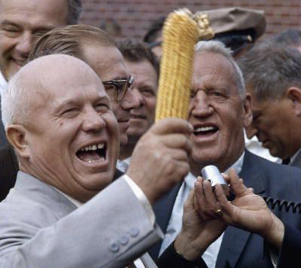 krushchev with corn