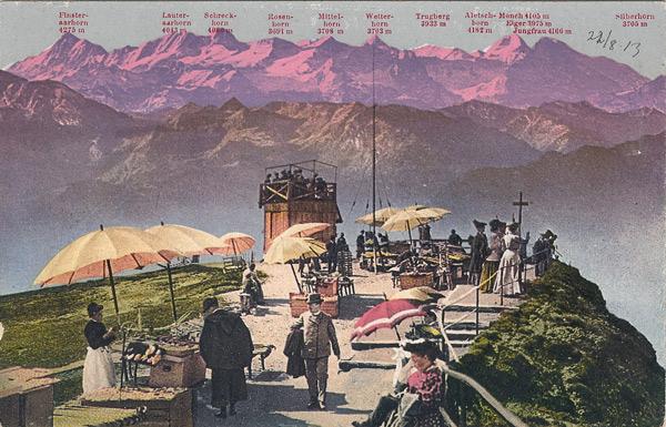 Rigi-Kulm (1800 m) und die Berner-Hochalpen