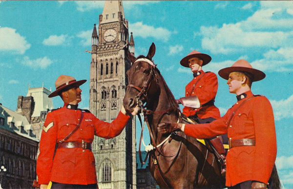Ottawa, Canada - R.C.M.P. in front of Parliament Buildings