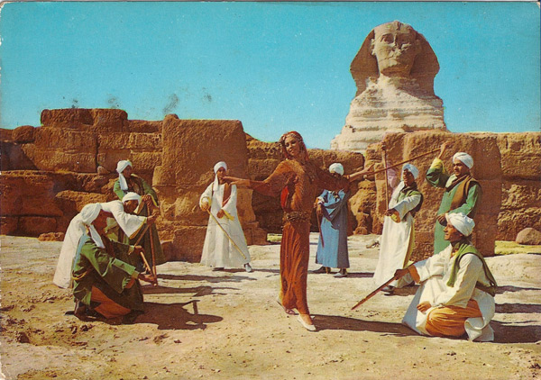 GIZA - the Reda Troup in front of the Pyramids