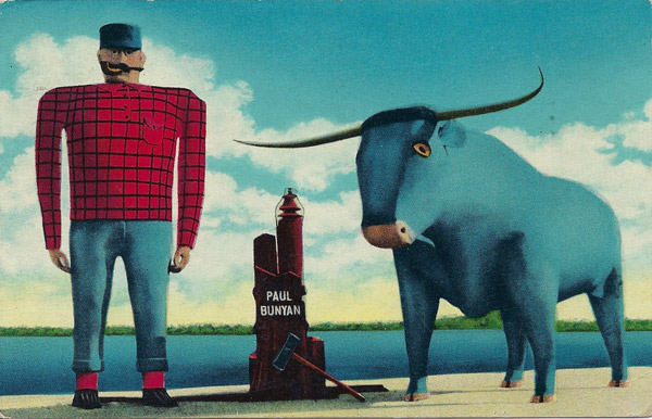 Paul Bunyan and Babe - his Blue Ox