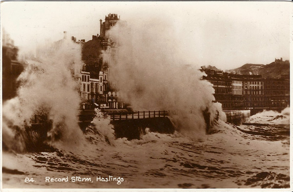Record storm, Hastings