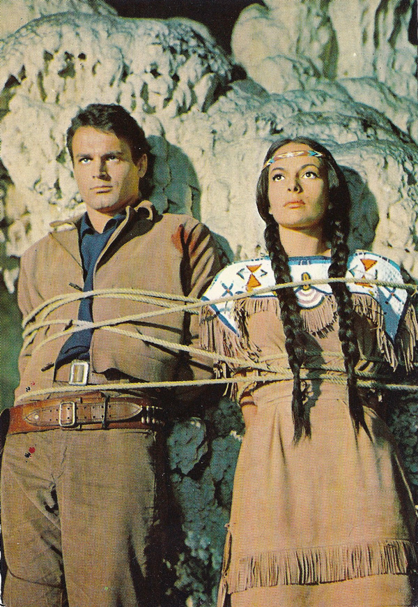 "Karin Dor und Mario Girotti in ""Winnetou"" II. Teil"