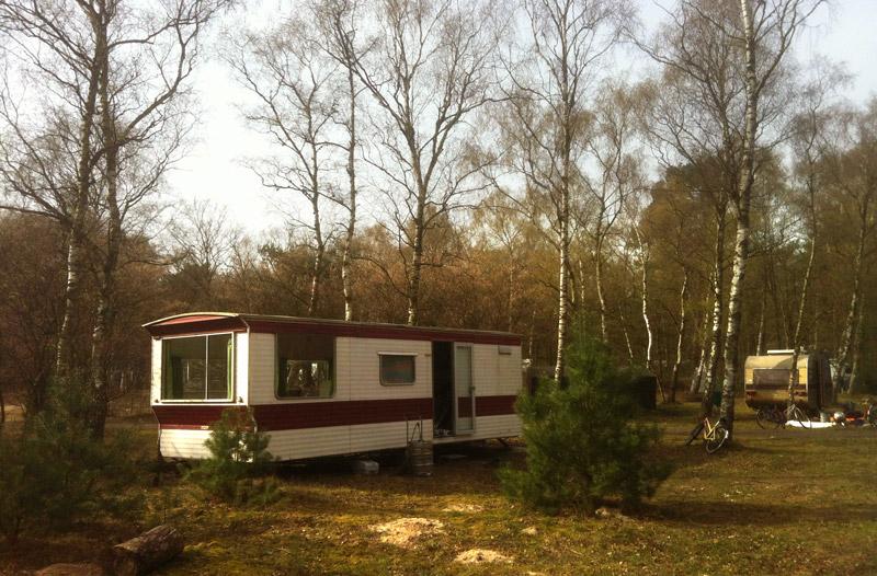 Neorurale hut in het bos - de Fransche Kamp