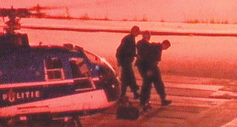 Milosevic arriving in The Hague after being  extradited from Belgrade a day earlier, on june 28, 2001
