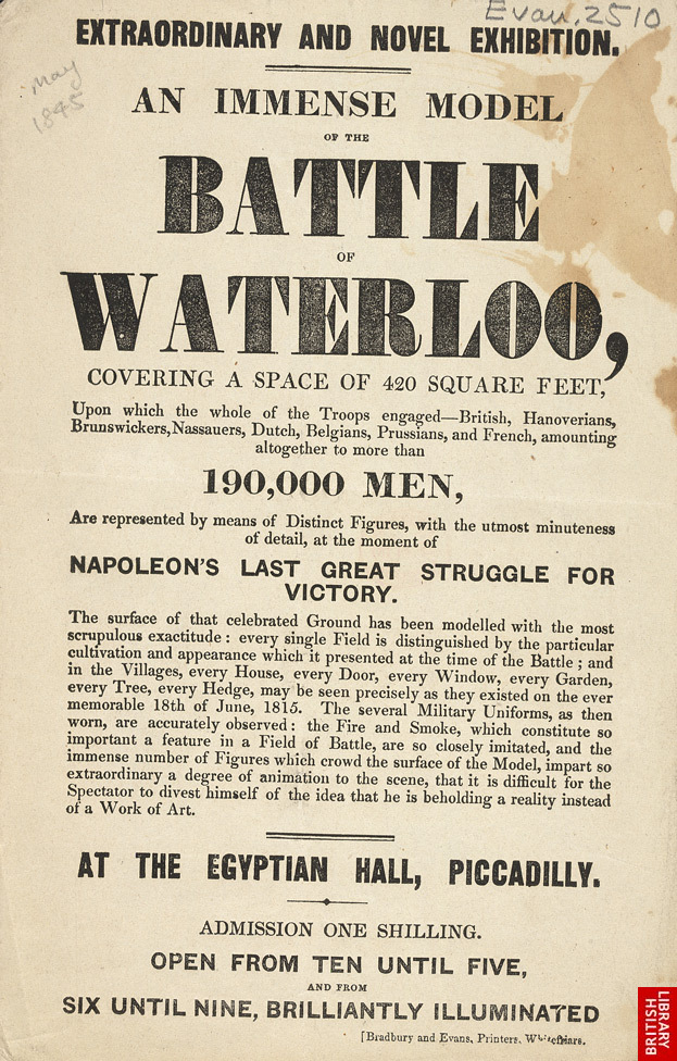 An immense model  of the battle of Waterloo